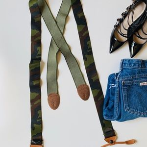 Camouflage Wide Band Suspenders 🖤💚